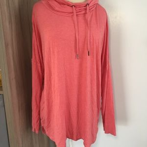 AVIA Hooded Tunic Relaxed Fit Long Sleeve